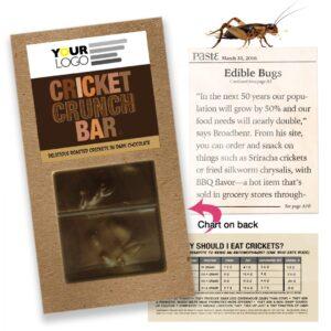 Promotional Product: Cricket Crunch Bar Dark Chocolate